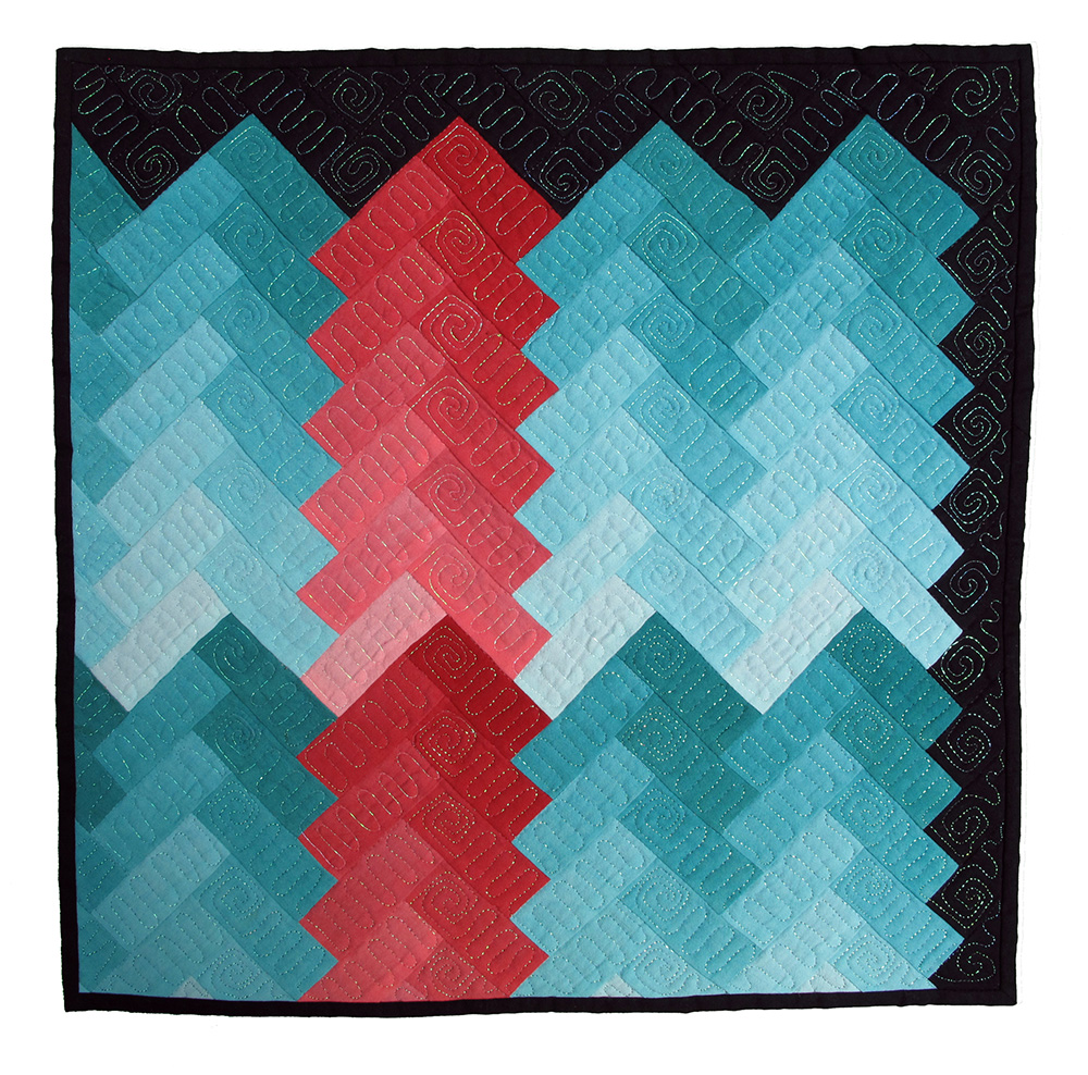 Interlocking Chevron, Diana Ramsay, Asheville, North Carolina
