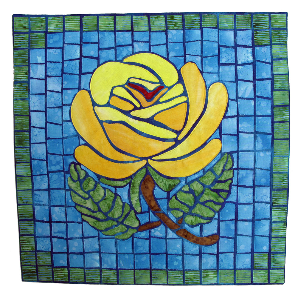Yellow Rose in My Mosaic Garden, Charlotte Noll, Lauderhill, Florida
