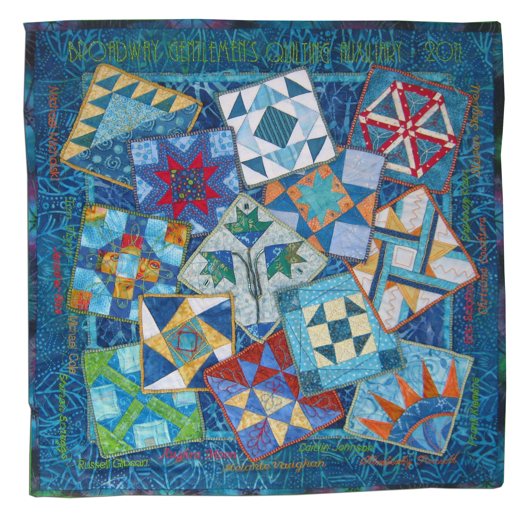 States United 1776 (side B), Top By Broadway Gentlemen's Quilting Auxiliary members: Christina Cocch