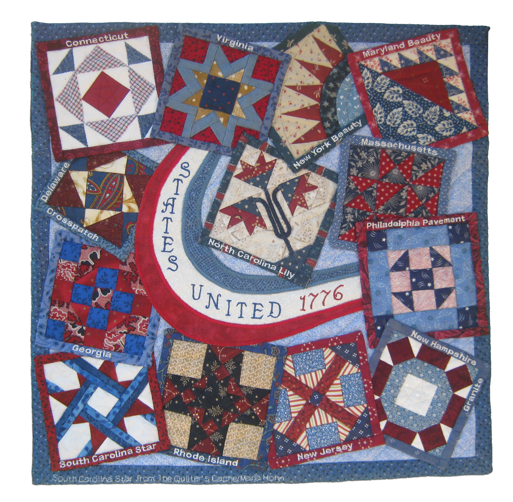 States United 1776 (side A), Top By Broadway Gentlemen's Quilting Auxiliary members: Christina Cocch