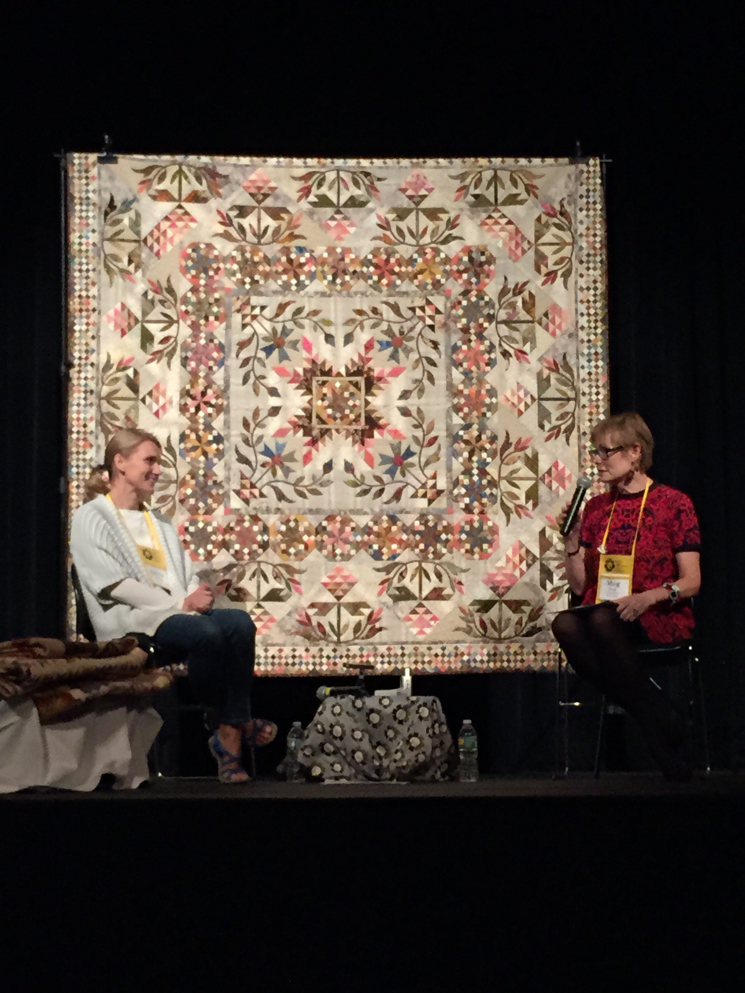 Quilt Alliance President Emeritus Meg Cox conducts a Quilters S.O.S. -- Save Our Stories interview w