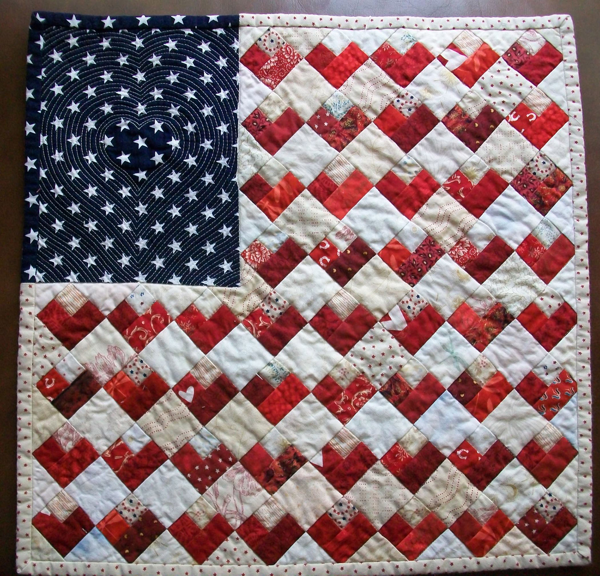 <em>Flag Quilt with Hearts</em>, Ramona Bates, Little Rock, AR