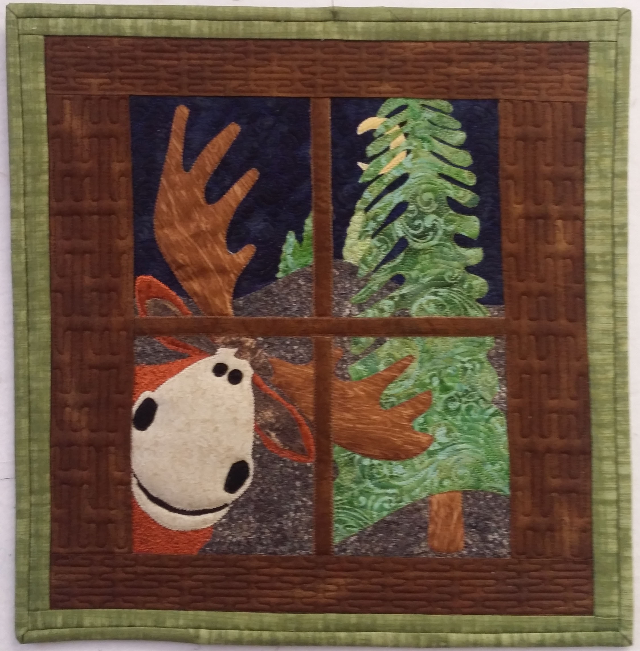 <em>Moonlight Moose</em>, Sue Gies, Custer, SD