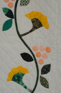 Detail of Alex Anderson Rose of Sharon quilt