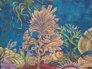 """Judy Coates Perez, detail, """"Primordial Sea"""""""